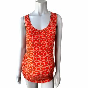 Expected by Lilac Clothing Coral/Beige Ruched Tank